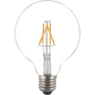 LED Filament Globe 125mm E27 4W 2100K 330LM Dimbar