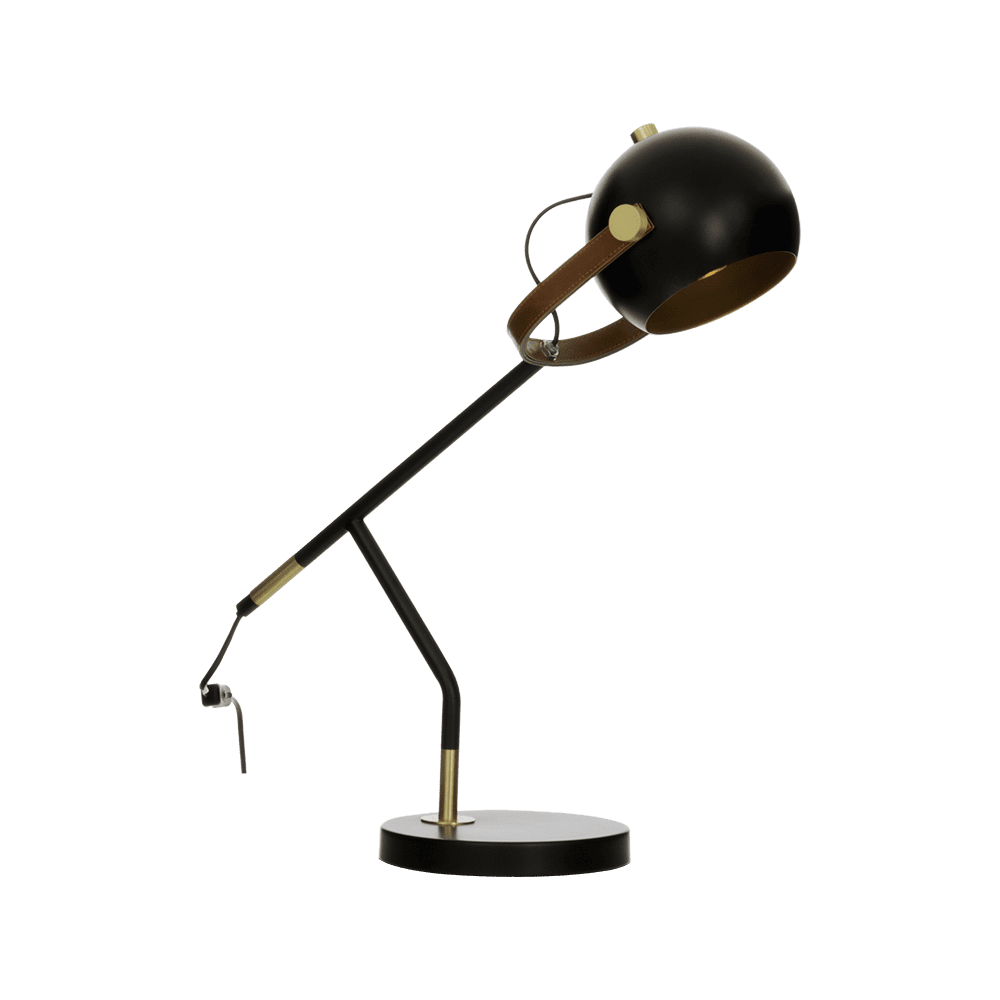 Bow bordlampe sort